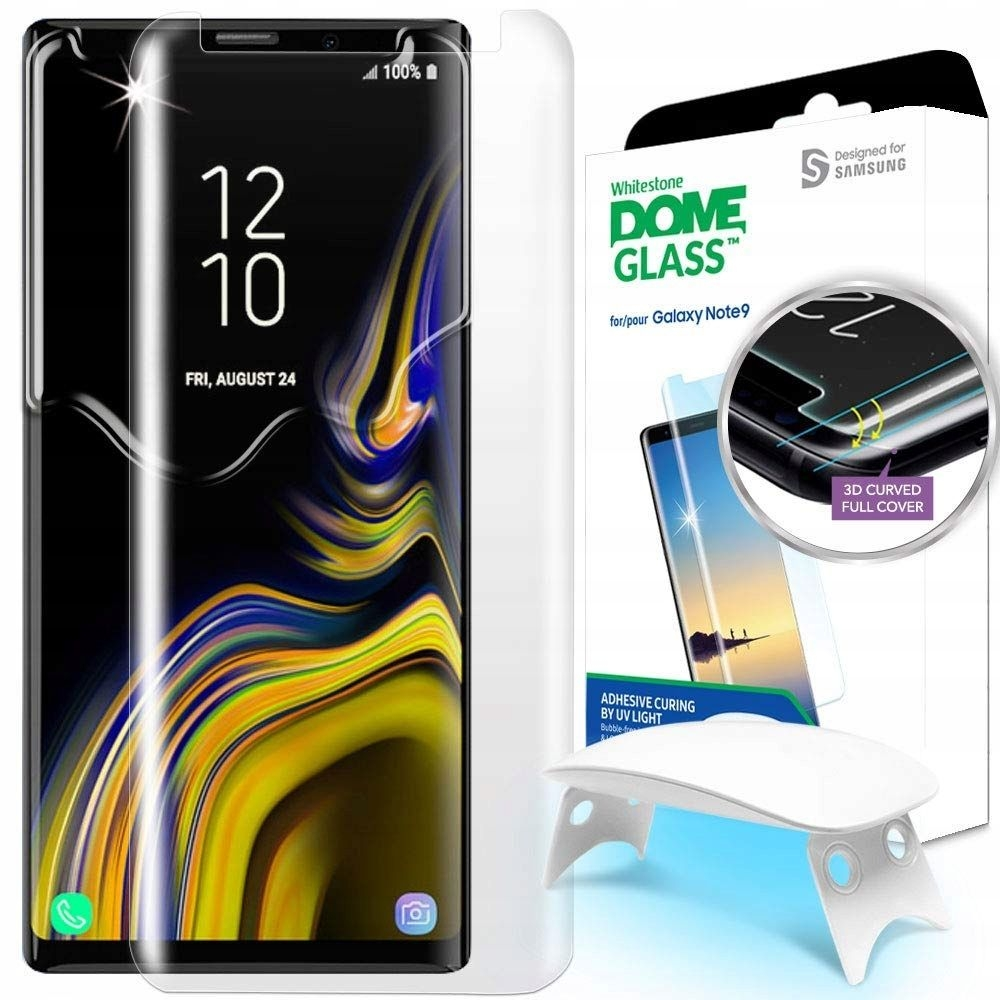 Whitestone Dome Glass - Liquid Optical Clear Adhesive & Installation Kit - Σύστημα προστασίας οθόνης Samsung Galaxy Note 9 (GP-N960WTEEAAB)
