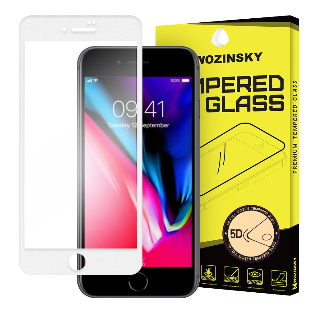 Wozinsky Tempered Glass - Fullface Αντιχαρακτικό Γυαλί Οθόνης iPhone 7 Plus / 8 Plus - White (64617)
