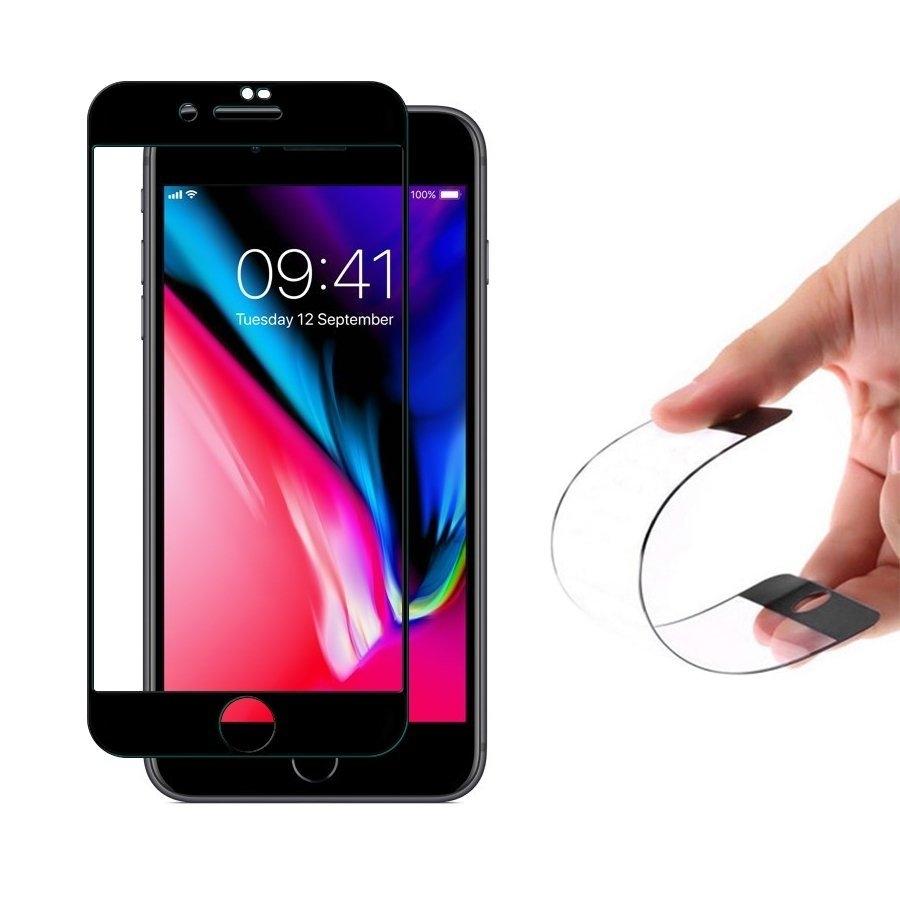 Fullface Nano FlexiGlass Αντιχαρακτικό Γυαλί Οθόνης iPhone 7 / 8 - Black (64625) - OEM
