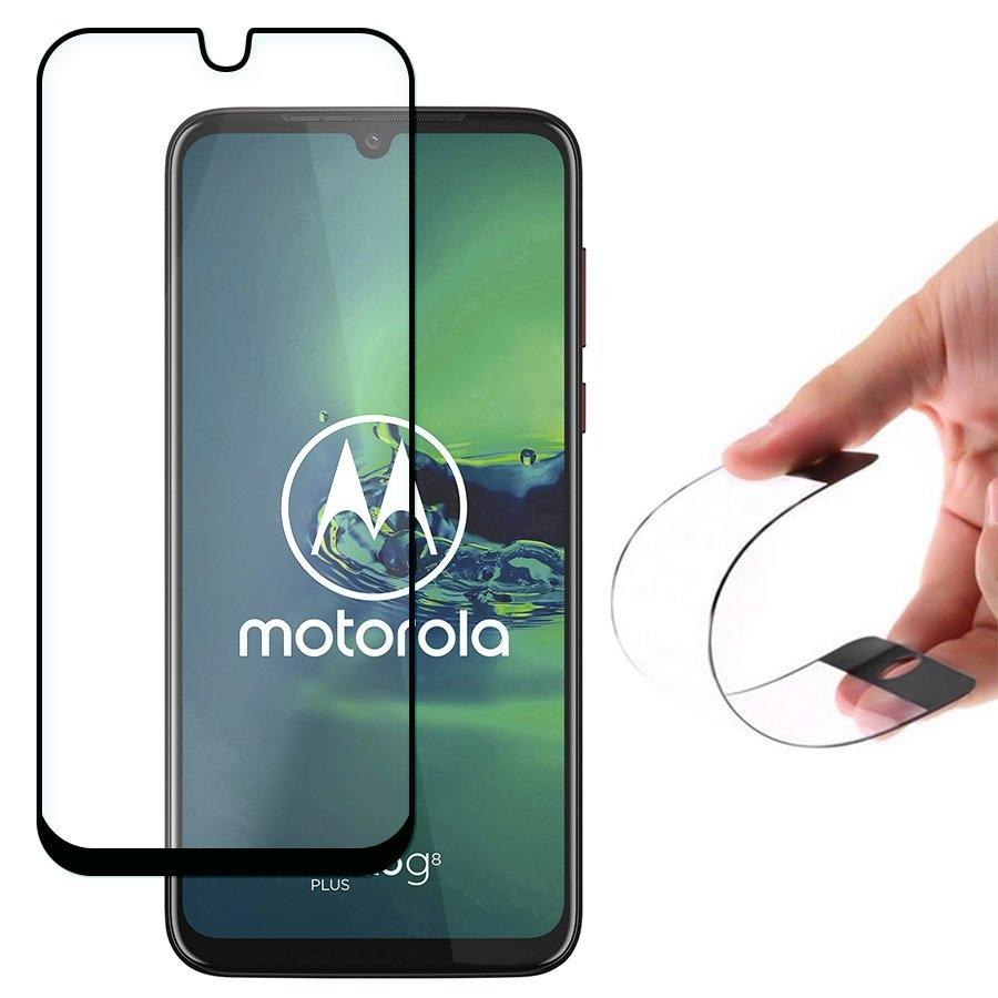 Wozinsky Nano FlexiGlass Tempered Glass - Fullface Αντιχαρακτικό Γυαλί Οθόνης Motorola Moto G8 Plus - Black (64618)