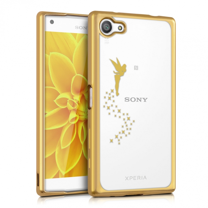 KW Θήκη Σιλικόνης Sony Xperia Z5 Compact (37744.21) - Gold Transparent Design Fairy