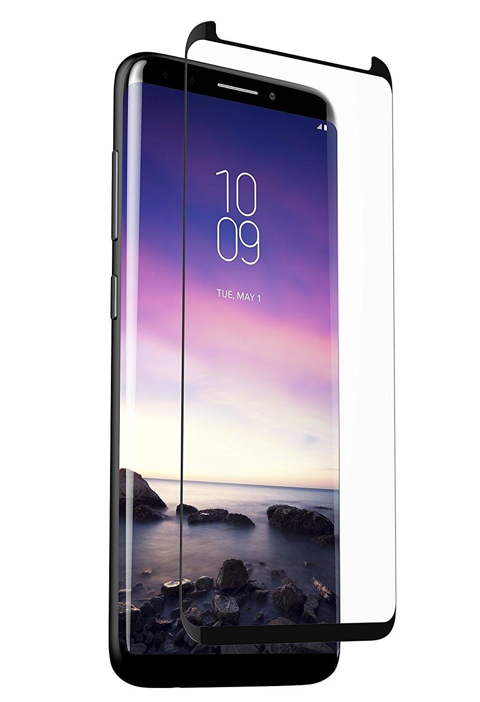 Zagg Invisible Shield Glass Curve Elite - Full Face Samsung Galaxy S9 Plus - Black Finish (200101467)
