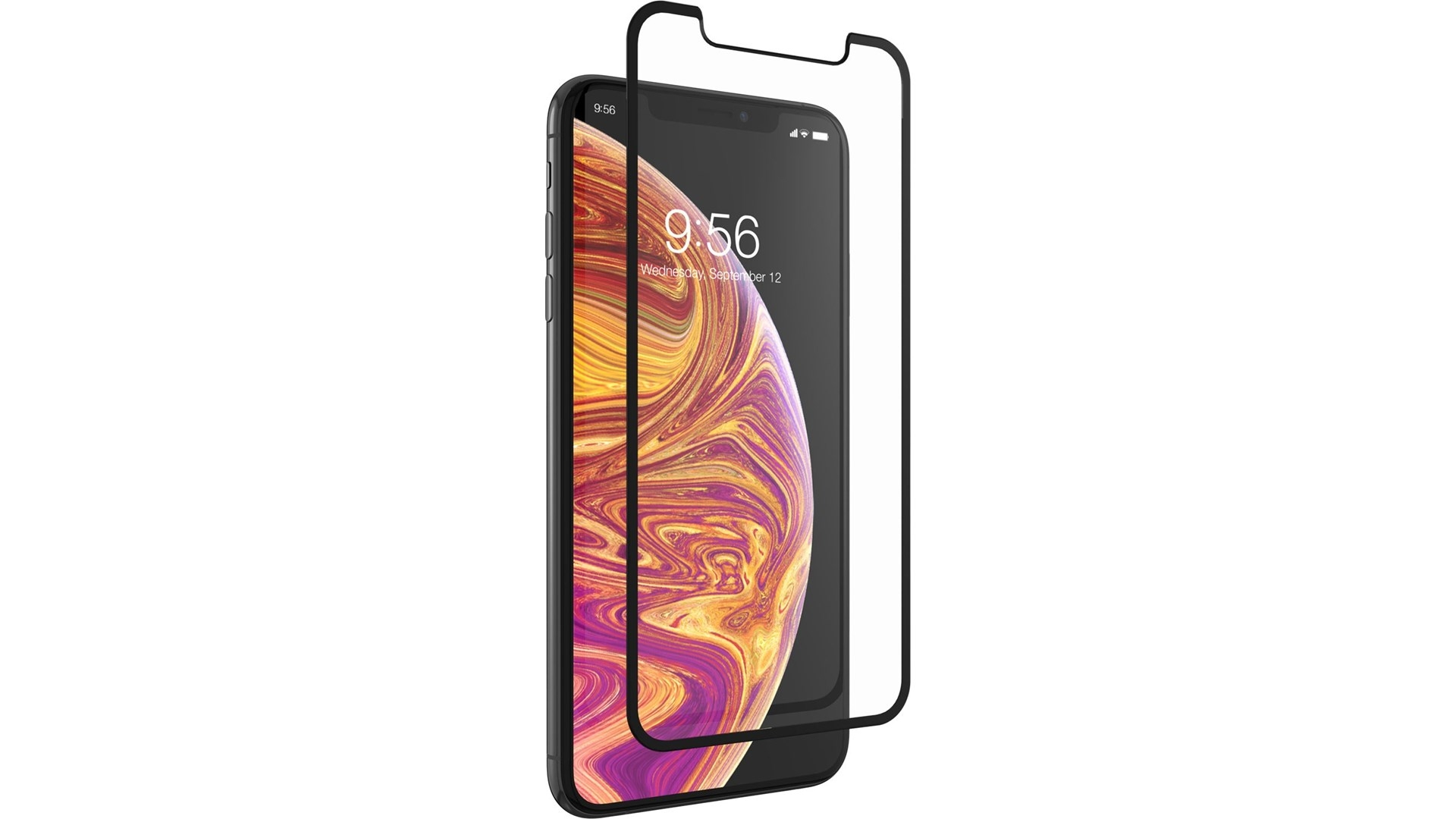 Zagg Invisible Shield glass & Curved Full Face iPhone XS Max - Black Finish (200101922)
