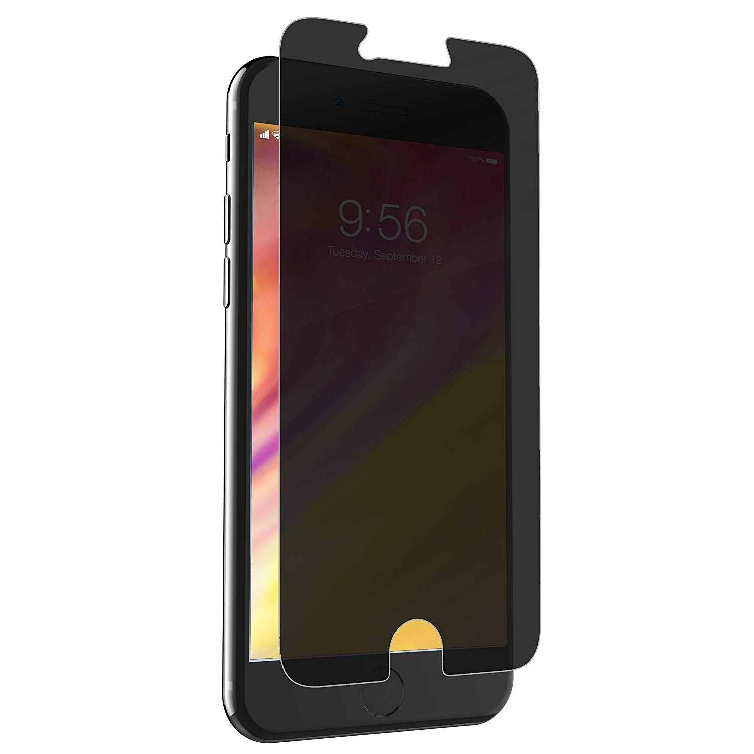 Zagg Invisible Shield Glass+ Privacy - Extreme Impact and Privacy Protection iPhone 8 Plus / 7 Plus / 6s Plus / 6 Plus (I7LGPC-F10)